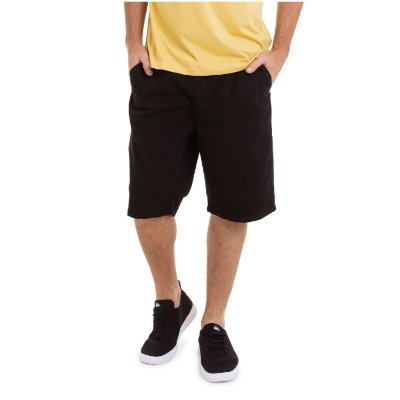 Bermuda Quiksilver Walk Everyday Chino Preto