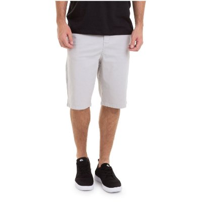 Bermuda Quiksilver Walk Everyday Chino Cinza
