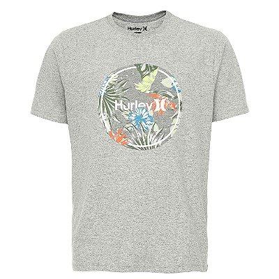 Camiseta Hurley Silk Crush Masculina Cinza Claro