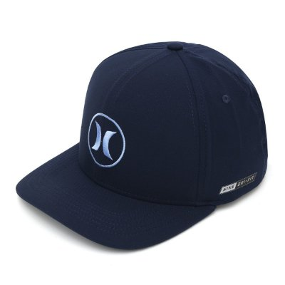 Boné Hurley Aba Curva BP Icon Dri Fit Azul Marinho