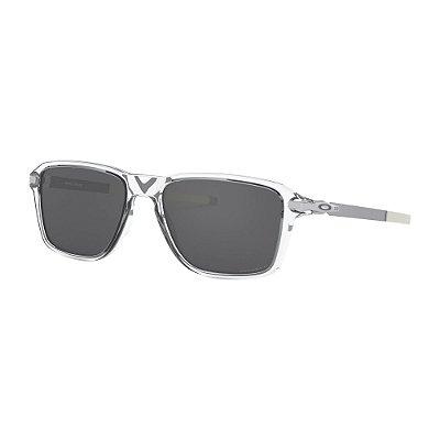 Óculos de Sol Oakley Wheel House Polished Clear W/ Prizm Black Polarized
