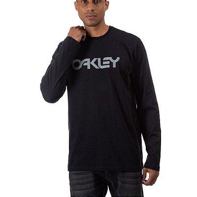Camiseta Oakley Mark II Manga Longa Masculina Preto