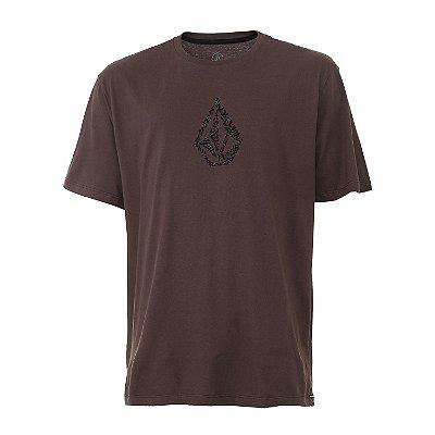 Camiseta Volcom Pixostone Marrom