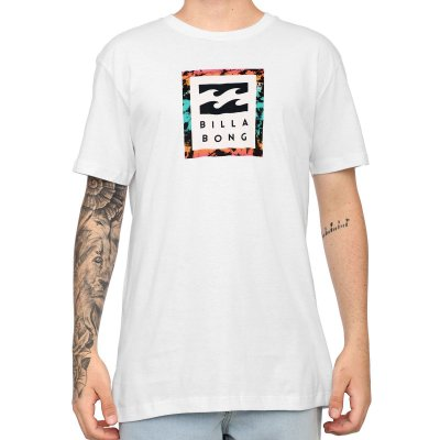 Camiseta Billabong Stacked Neon Night Branco