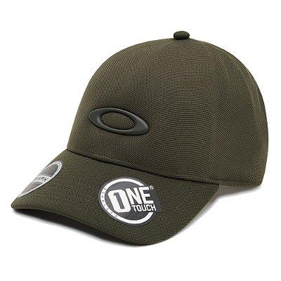 Boné Oakley One Touch Match Ellipse Verde Escuro
