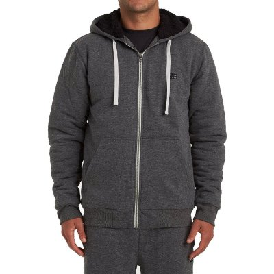 Moletom Billabong Aberto All Day Sherpa Masculino Cinza