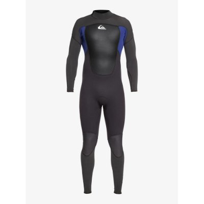 Wetsuit Long John Quiksilver 3/2mm Prologue Back Zip FLT Preto/Azul