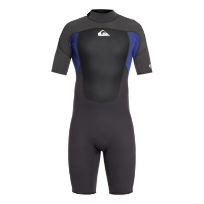 Wetsuit Short John Quiksilver 2/2mm Prologue Back Zip FLT Preto/Azul
