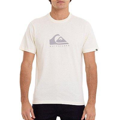 Camiseta Quiksilver Pastel Logo Masculina Amarelo Claro