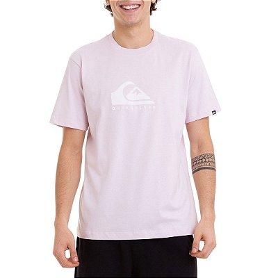 Camiseta Quiksilver Pastel Logo Masculina Rosa Claro
