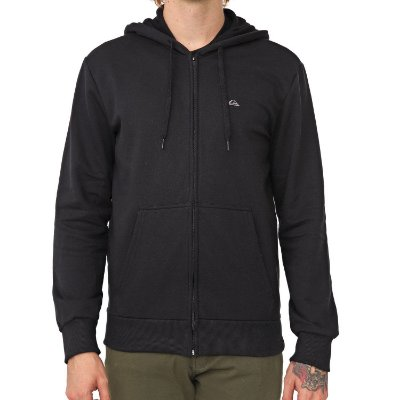 Moletom Quiksilver Aberto Everyday Open Masculino Preto