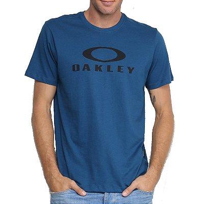 Camiseta Oakley O-Bark Masculina Azul