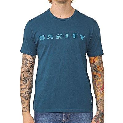 Camiseta Oakley Bark Pattern SS Masculina Azul