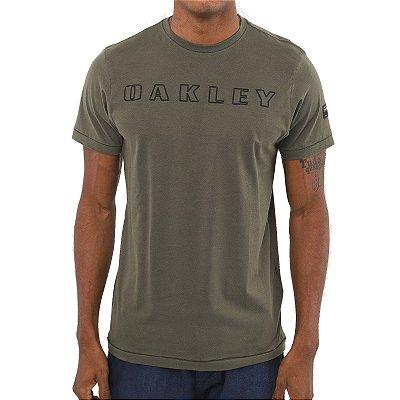 Camiseta Oakley Utilitary Bark Masculina Verde