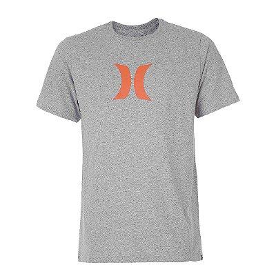 Camiseta Hurley Silk Icon Cinza Claro