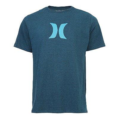 Camiseta Hurley Silk Icon Azul Mescla