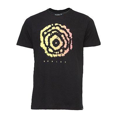 Camiseta Hurley Silk Oculus Masculina Preto