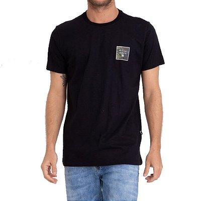 Camiseta Billabong Stacked Fill I Masculina Preto