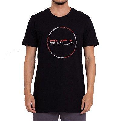 Camiseta RVCA Splitter Seal Masculina Preto
