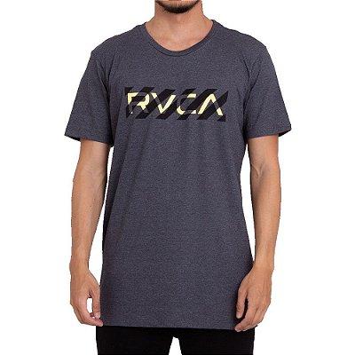 Camiseta RVCA Hazard RVCA Masculina Cinza Escuro