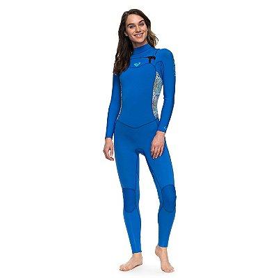 Wetsuit Long John Roxy 3/2mm Syncro Series Azul