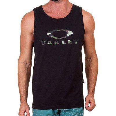 Regata Oakley Bark Tank Masculina Preto