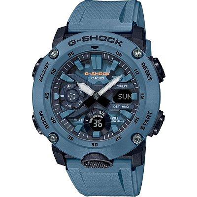 Relógio G-Shock Carbon Core Guard GA-2000SU-2ADR Masculino Azul