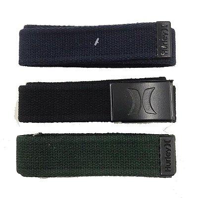 Kit Cinto Hurley Strong Preto/Marinho/Verde