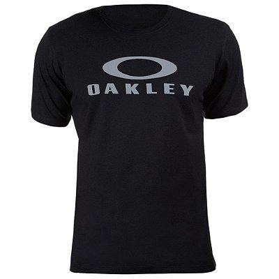 Camiseta Oakley O-Bark Preto/Cinza