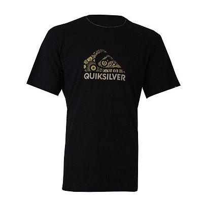 Camiseta Quiksilver Pattern Logo Preto