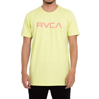 Camiseta RVCA Big RVCA Masculina Verde Claro