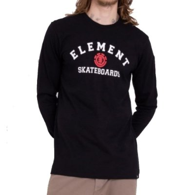 Camiseta Element Manga Longa For Life Masculina Preto