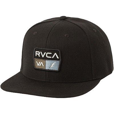 Boné RVCA Aba Reta Snap 9volt Class R Preto