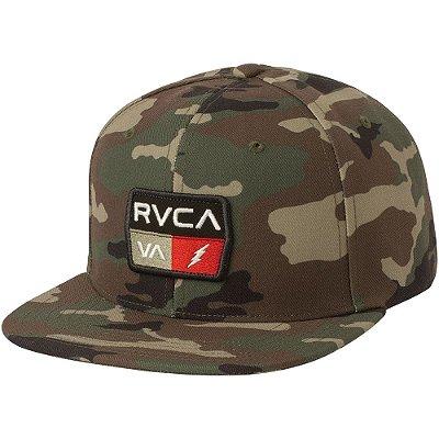 Boné RVCA Aba Reta Snap 9volt Class R Camuflado