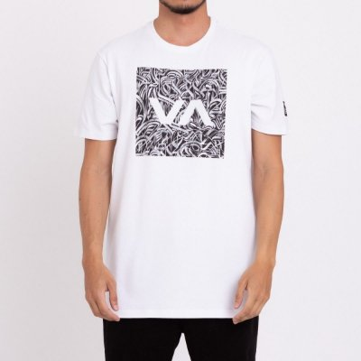Camiseta RVCA Defer All The Way Masculina Branco