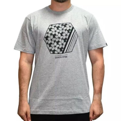 Camiseta Quiksilver Bubble Dreams Cinza Mescla