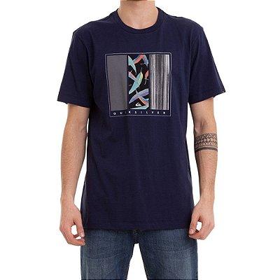Camiseta Quiksilver Jungle Options Masculina Azul Marinho