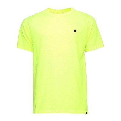 Camiseta Hurley Silk Mini Icon Masculina Amarelo Neon