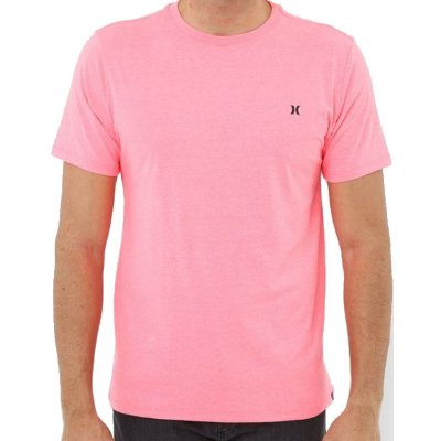 Camiseta Hurley Silk Mini Icon Masculina Rosa Neon