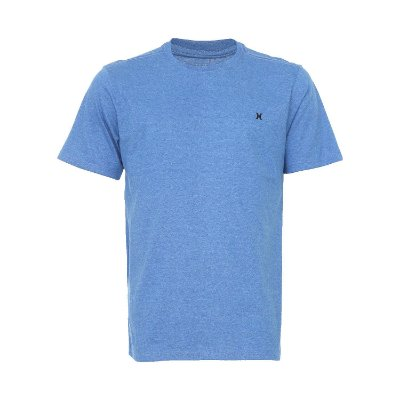 Camiseta Hurley Silk Mini Icon Masculina Azul Mescla