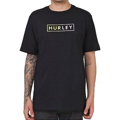 Camiseta Hurley Boxed Gradient Masculina Preto
