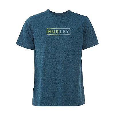 Camiseta Hurley Boxed Gradient Masculina Azul Marinho