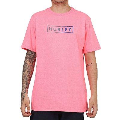 Camiseta Hurley Boxed Gradient Masculina Rosa Neon