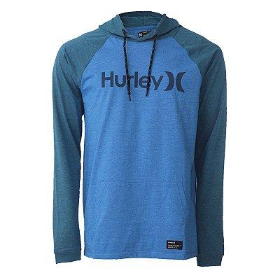 Camiseta Hurley Manga Longa One&Only Masculina Azul