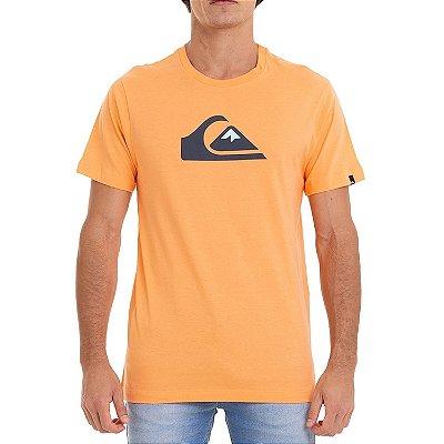 Camiseta Quiksilver Logo Color Masculina Laranja
