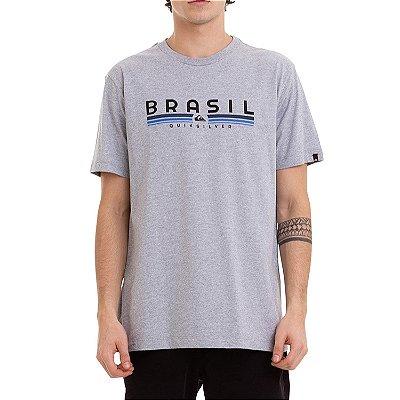 Camiseta Quiksilver Statement Masculina Cinza