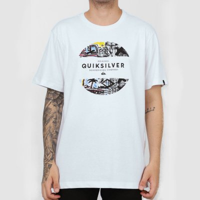 Camiseta Quiksilver Mixed Prints Masculina Branco
