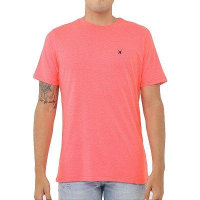 Camiseta Hurley Heat Masculina Rosa Neon