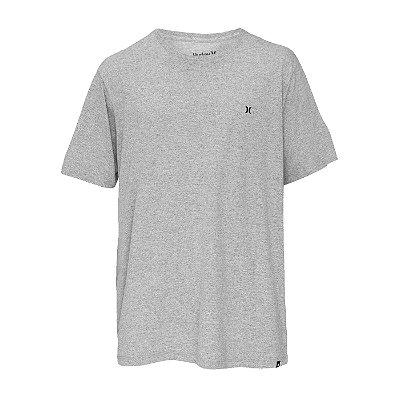 Camiseta Hurley Silk Oversize Heat Masculina Cinza Claro