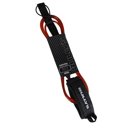 Leash Bullys 9' Silver - 6,5mm Longboard Calf Regular Vermelho